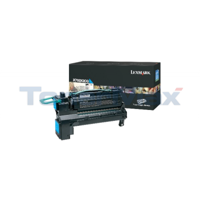 LEXMARK X792 PRINT CARTRIDGE CYAN 20K